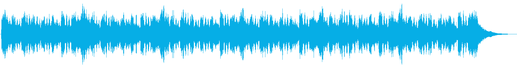 フルートとシンセのほのぼのジングルの再生済みの波形