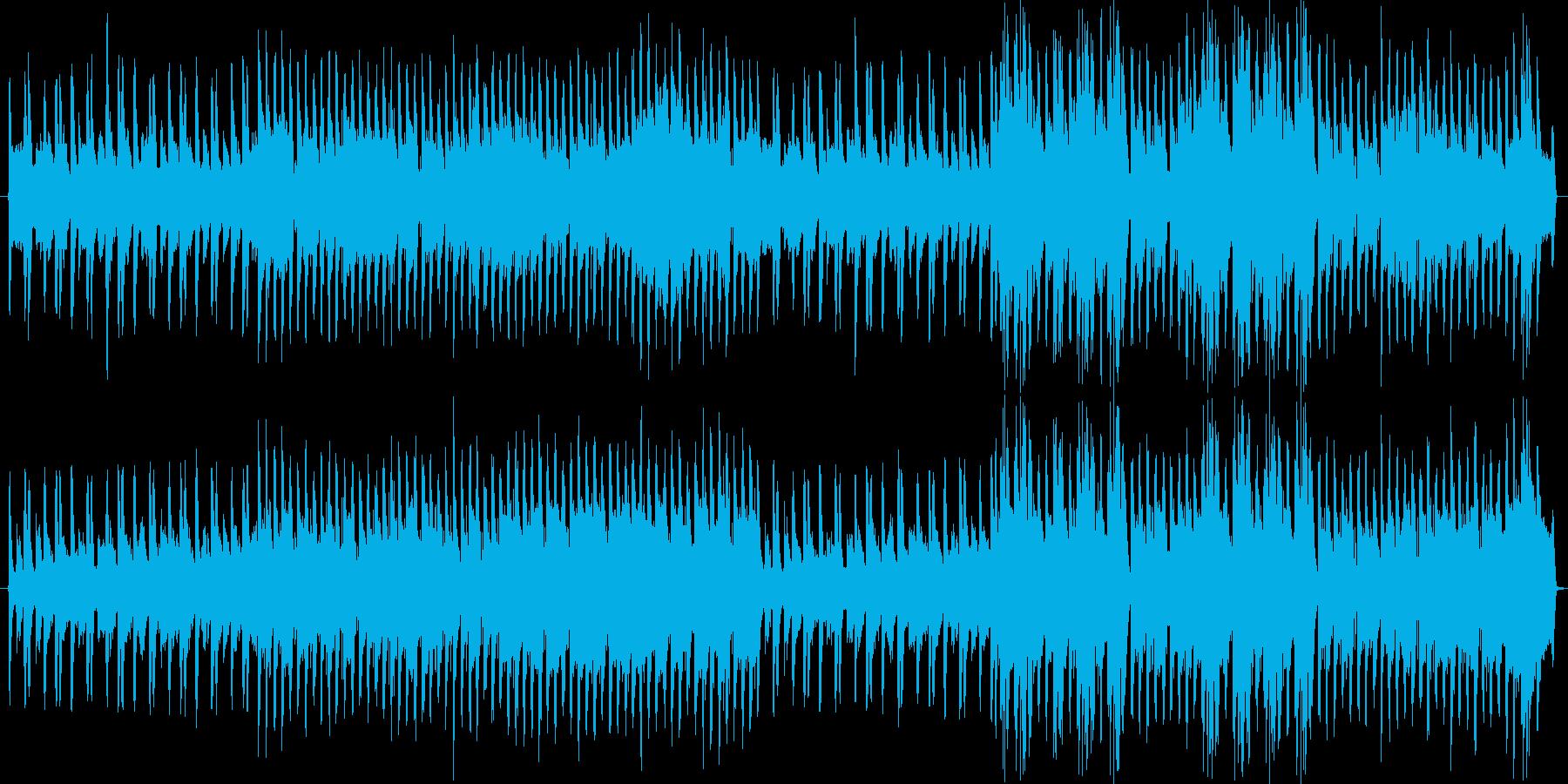 急いでる時のBGMなど。四つ打ちリズムの再生済みの波形