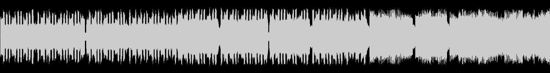 のんびり軽快なチップチューンサウンドの未再生の波形