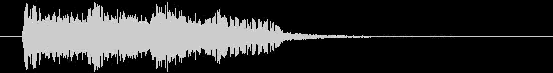 ピアノにFX効果音を追加しジングルの未再生の波形