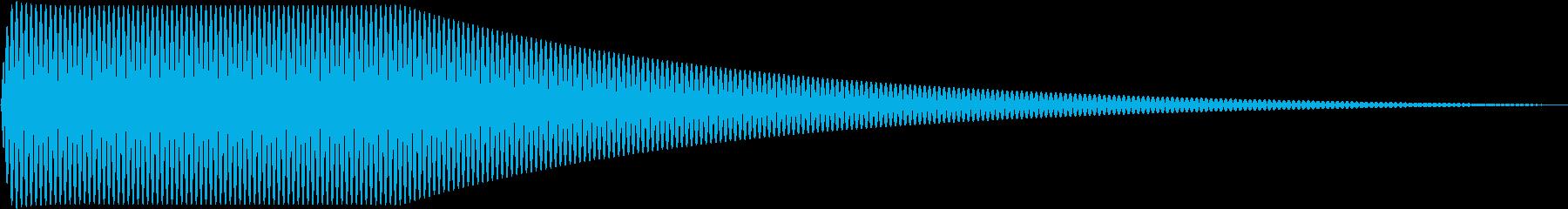 Sin シンプルなサイン波のタッチ音 1の再生済みの波形