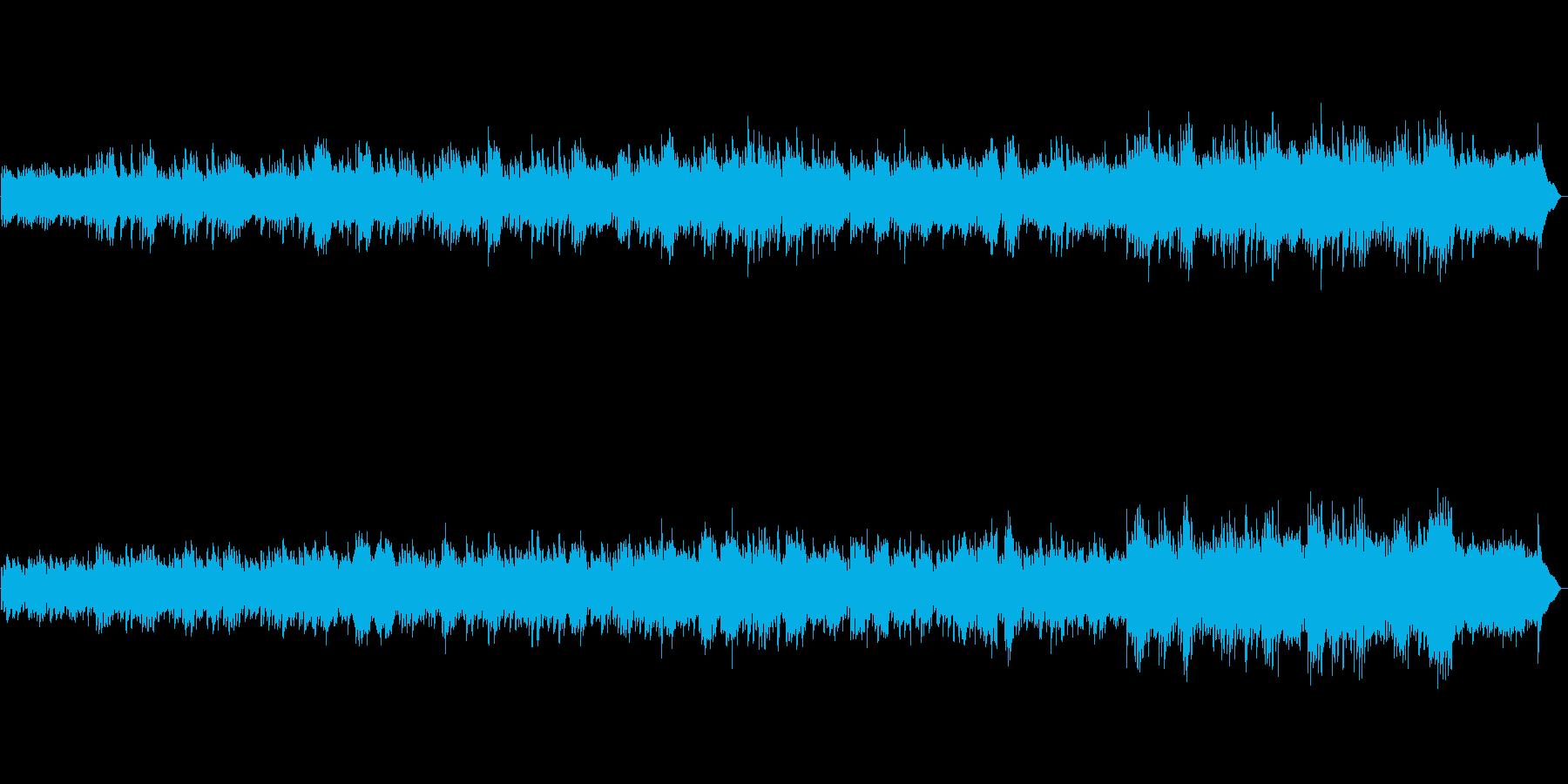 あかるく優しく流れるピアノオリジナルの再生済みの波形