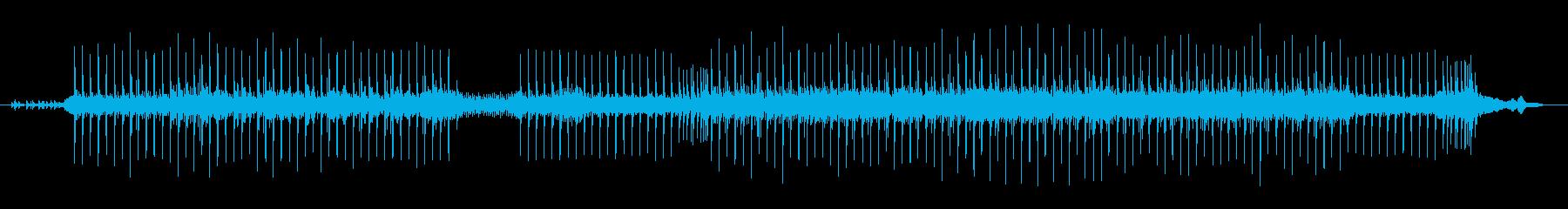 未来的なサウンドの再生済みの波形