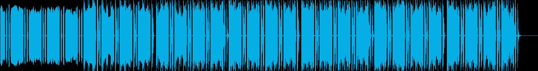 リズムに意外性を盛り込んだテクノの再生済みの波形