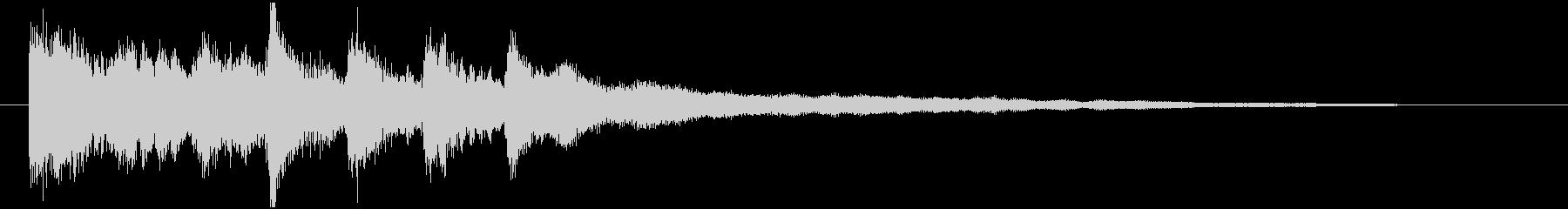 企業サウンドロゴ ギター ヴァイオリンの未再生の波形