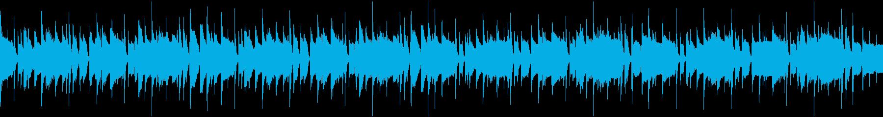オシャレなピアノとチェレスタ響くループ曲の再生済みの波形