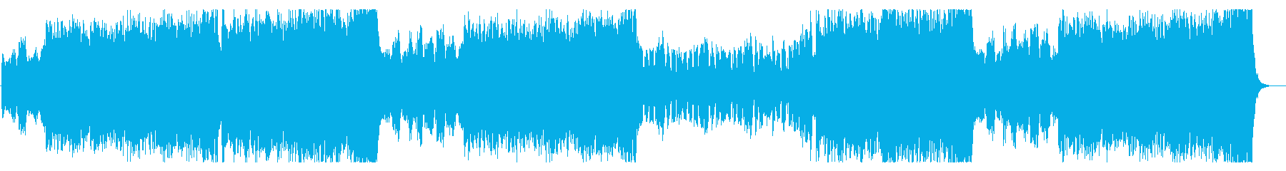 ヴァイオリンと尺八の荒々しい和風BGMの再生済みの波形