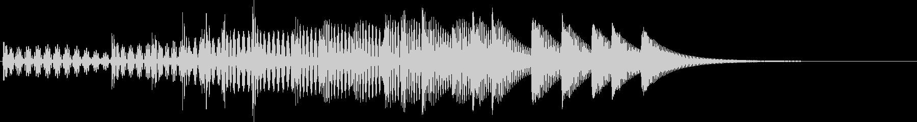 場面転換音02の未再生の波形