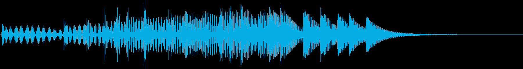 場面転換音02の再生済みの波形