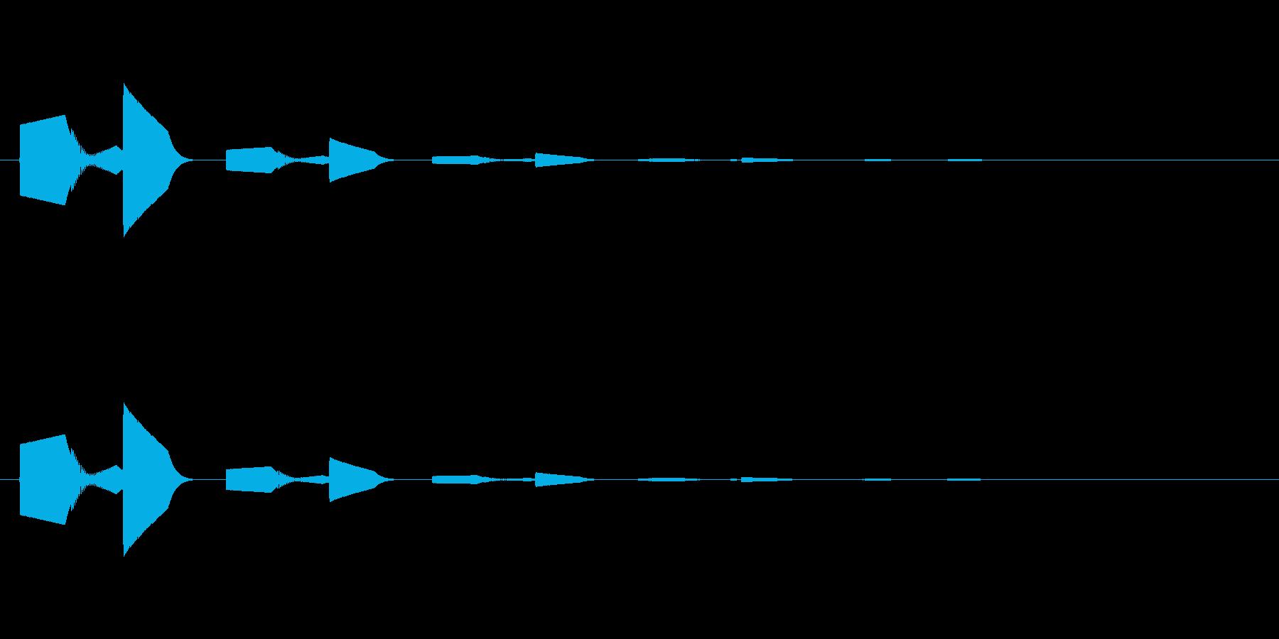 ピロッ↑(決定音、セーブ、回復)の再生済みの波形