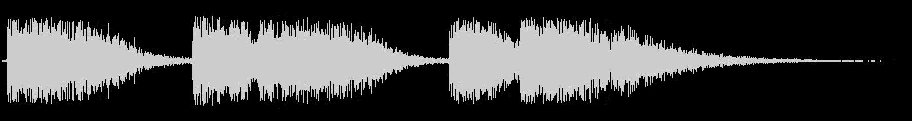 シンセサイザー長めのオープニングテーマ曲の未再生の波形