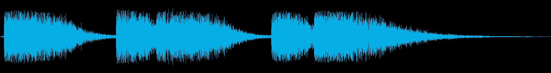 シンセサイザー長めのオープニングテーマ曲の再生済みの波形