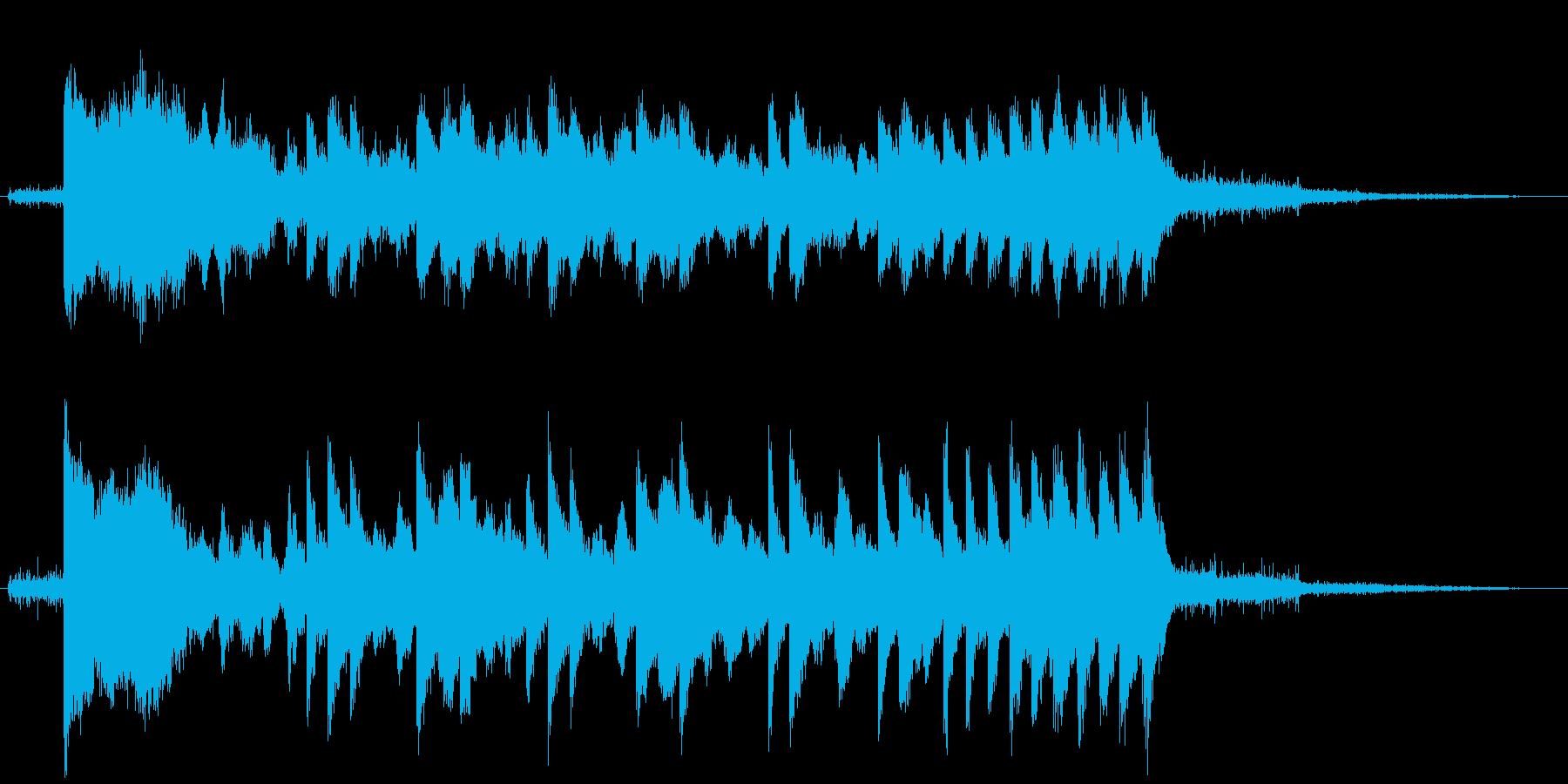女声のスキャットによる不思議な音色の再生済みの波形