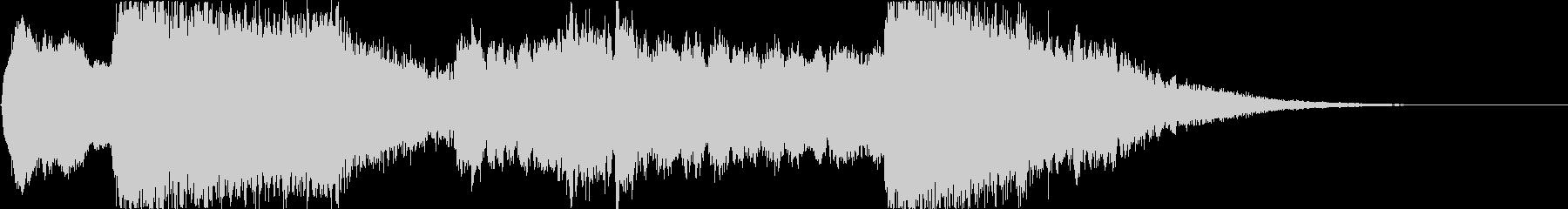 和風ロゴ・尺八と和太鼓・刀の抜刀イメージの未再生の波形