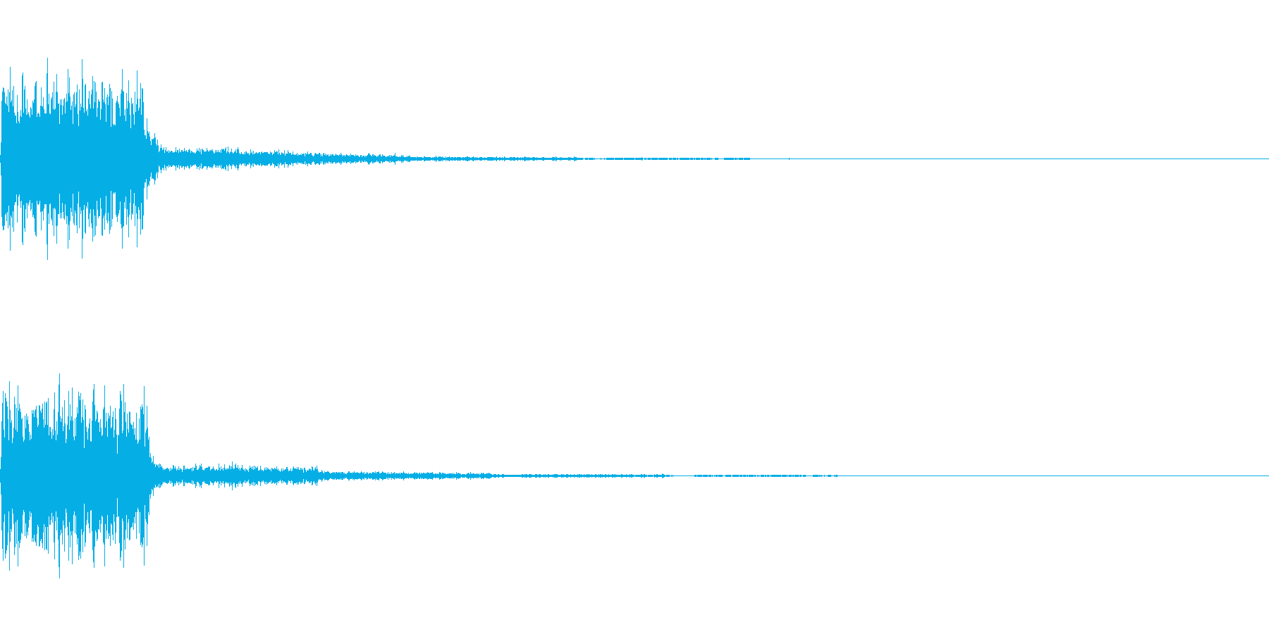 【SE 効果音】SF的な音8の再生済みの波形