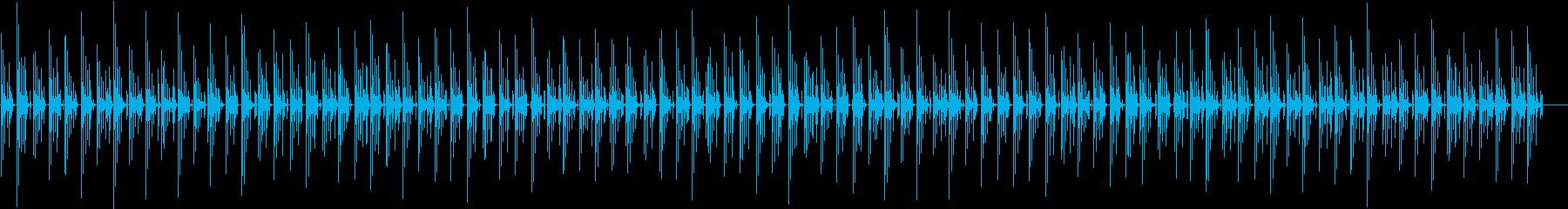 ゆったりとした雰囲気の曲の再生済みの波形