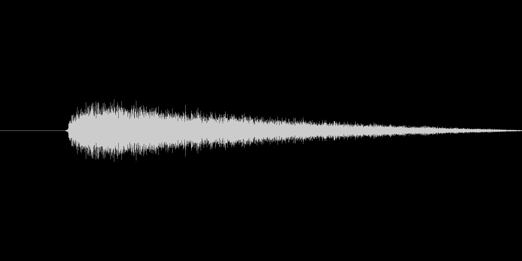 プシュー(蒸気の音)の未再生の波形