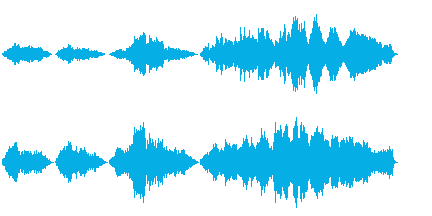 感動的なシーンで流れそうなストリングスの再生済みの波形