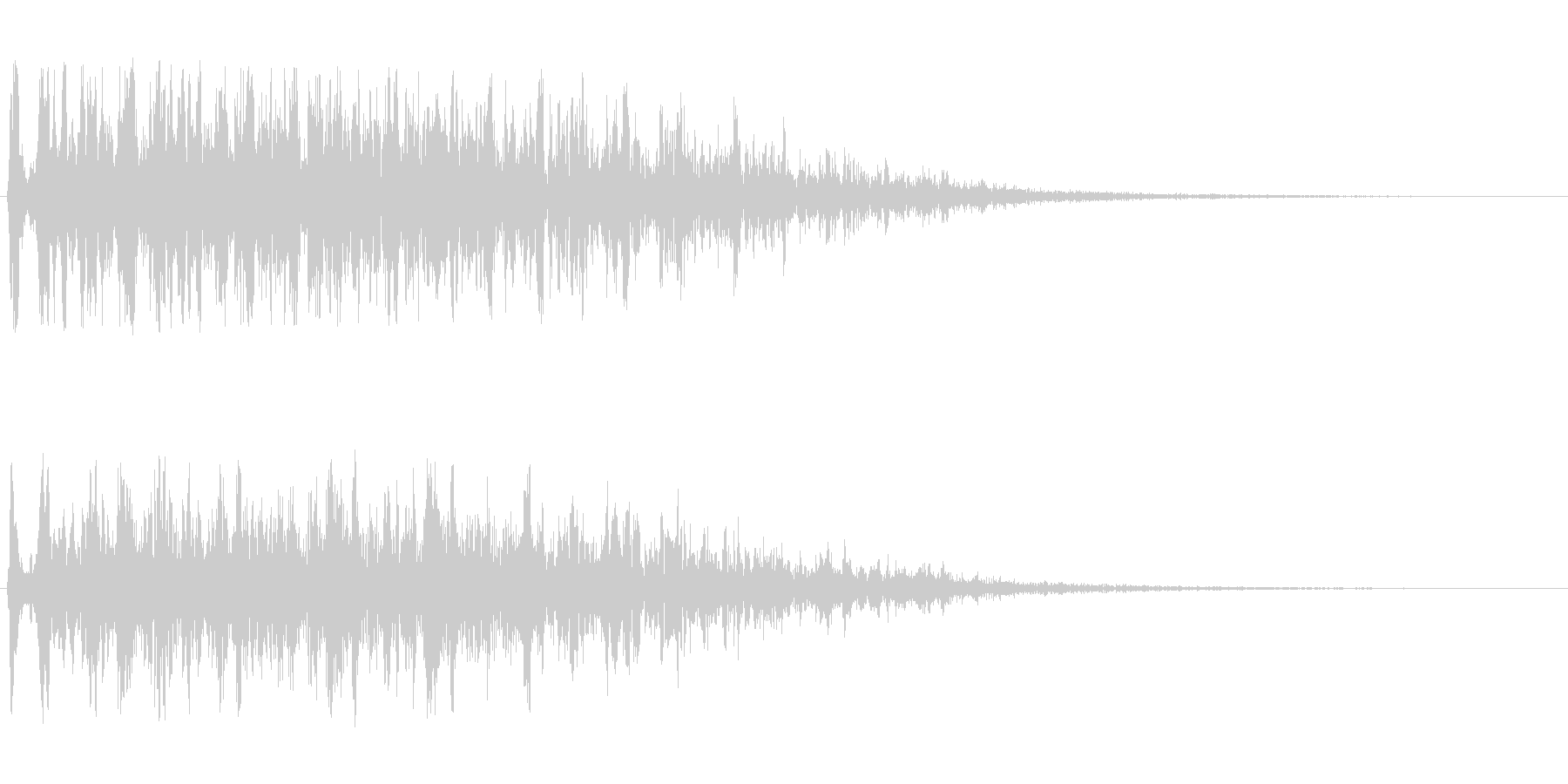 変化のある風切りの音の未再生の波形
