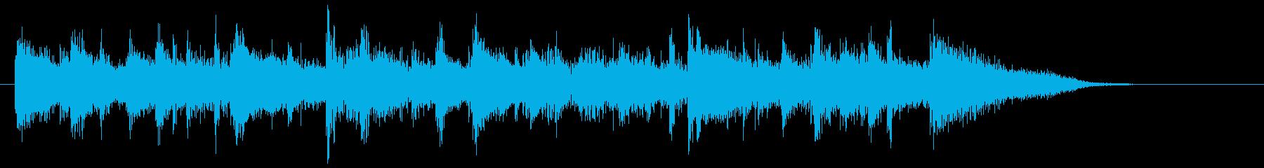 疾走感・カッコいいジャズロックのジングルの再生済みの波形