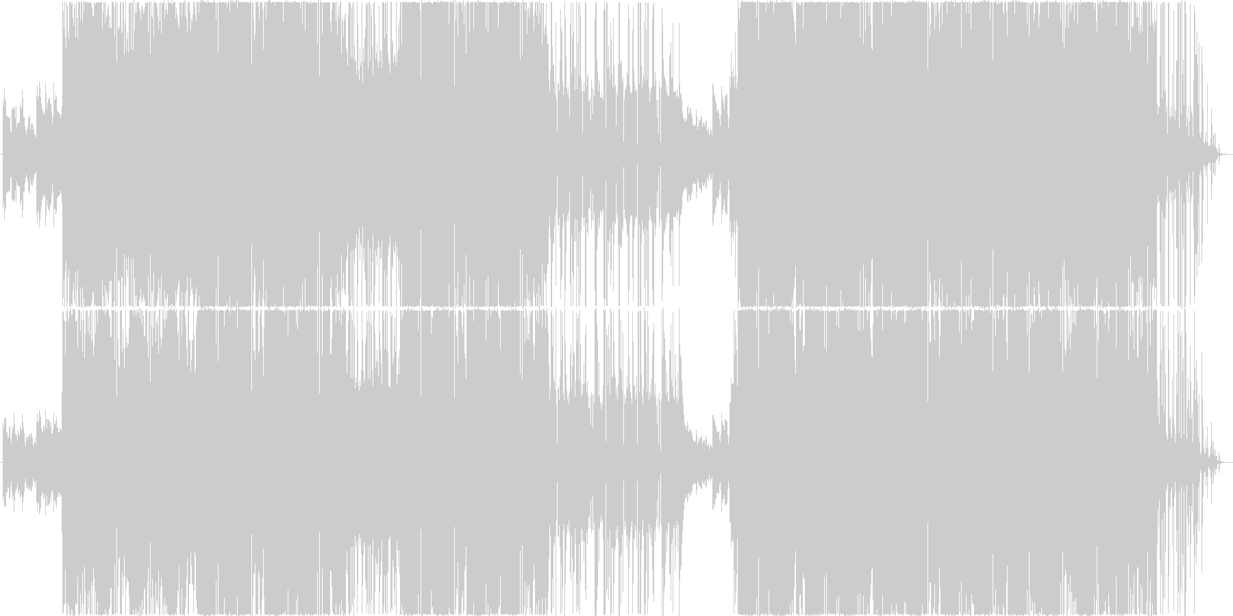 重層音にきらきらシンセサウンド。の未再生の波形