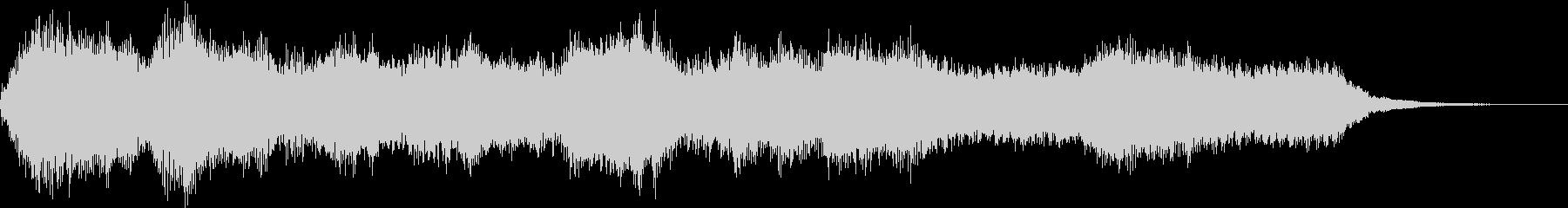 オーケストラによる厳かなジングルの未再生の波形