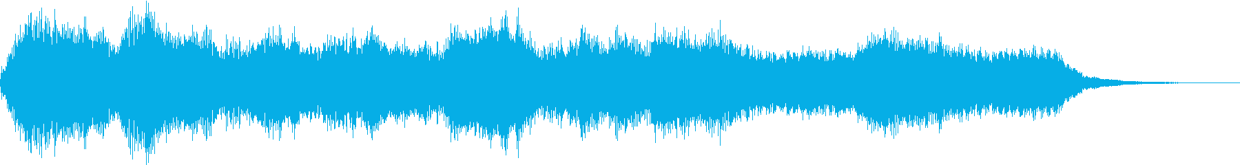 オーケストラによる厳かなジングルの再生済みの波形