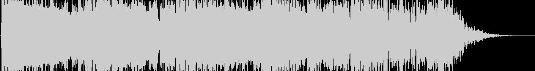 重圧感のある短いBGMの未再生の波形
