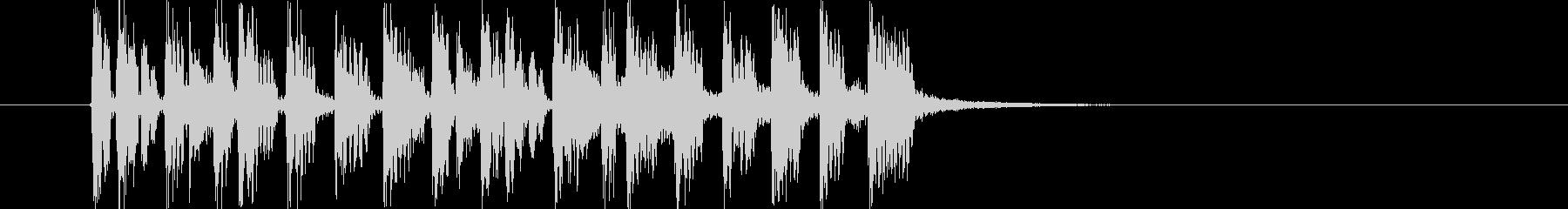 テクノポップスなジングル曲、サウンドロゴの未再生の波形