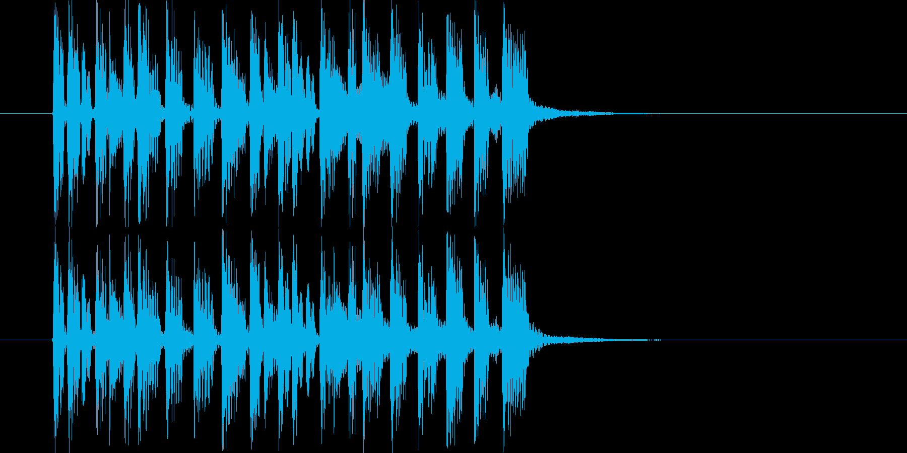 テクノポップスなジングル曲、サウンドロゴの再生済みの波形