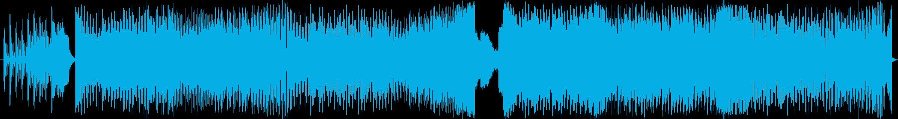 若者向けを意識したフューチャーファンクの再生済みの波形