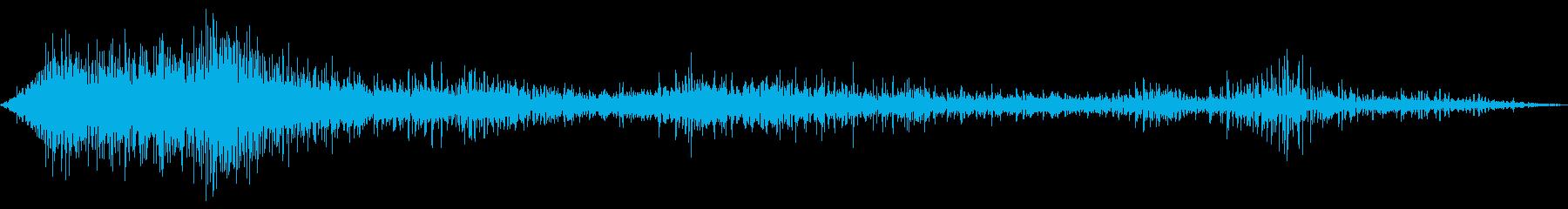 APOLLO 16の発売:燃焼後の...の再生済みの波形