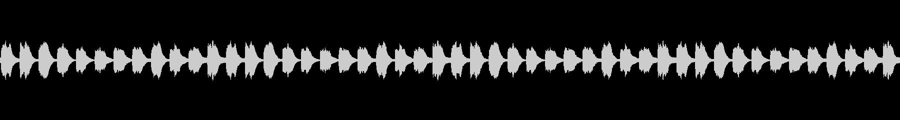 無限に音階の上がるピアノ音(ループ)の未再生の波形