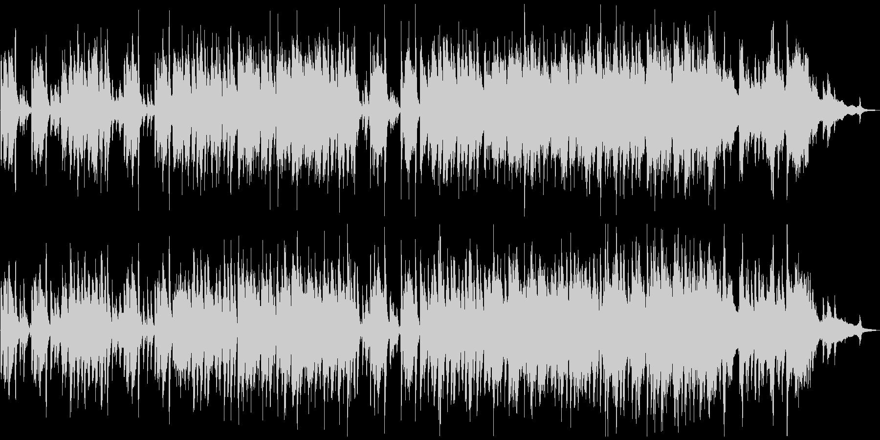 黒猫をイメージした小悪魔ピアノジャズの未再生の波形