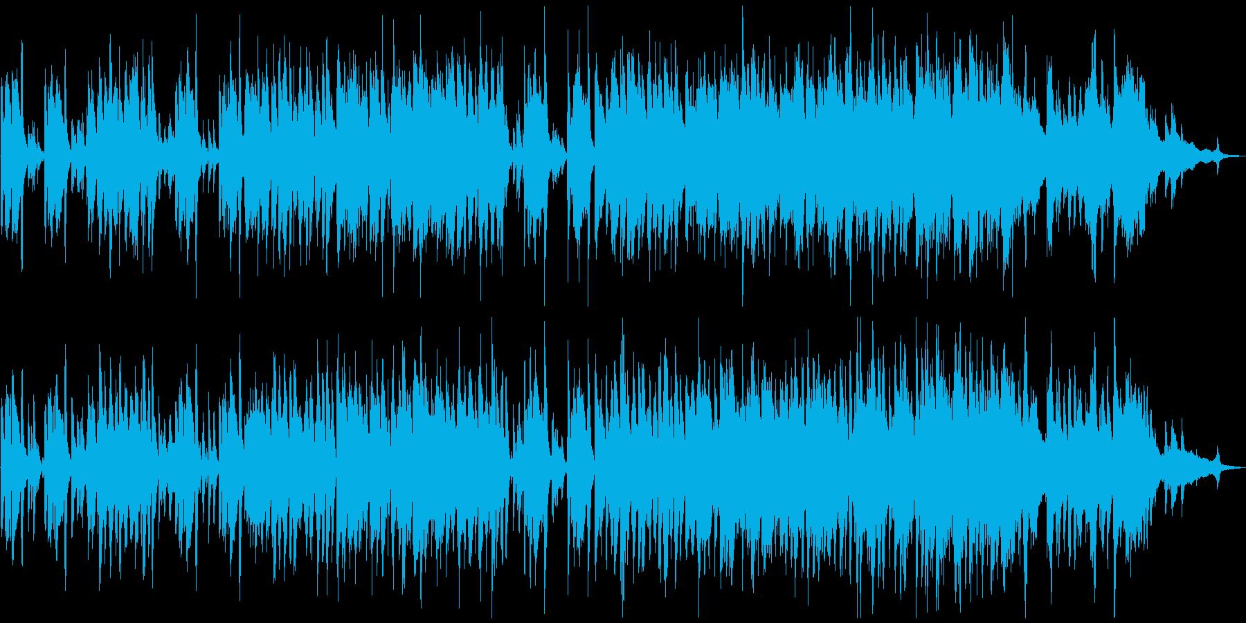 黒猫をイメージした小悪魔ピアノジャズの再生済みの波形