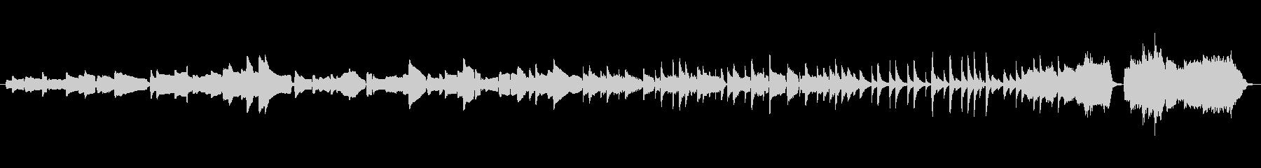 笙・弦楽四重奏・ピアノの唱歌「早春賦」の未再生の波形