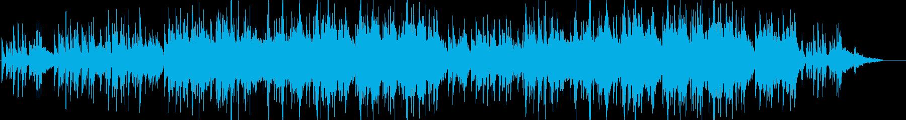 [ビートあり]ピアノと弦の感動を誘う曲の再生済みの波形