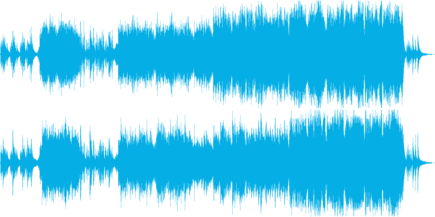 ストリングスとピアノのシンプルなバラードの再生済みの波形