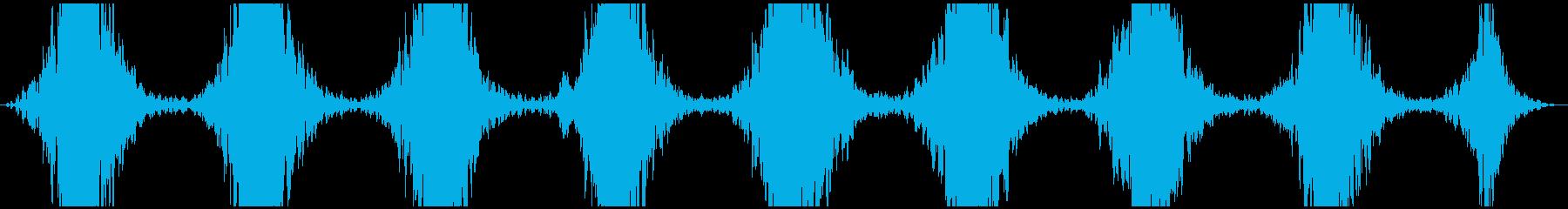 PADS 回転する地震01の再生済みの波形