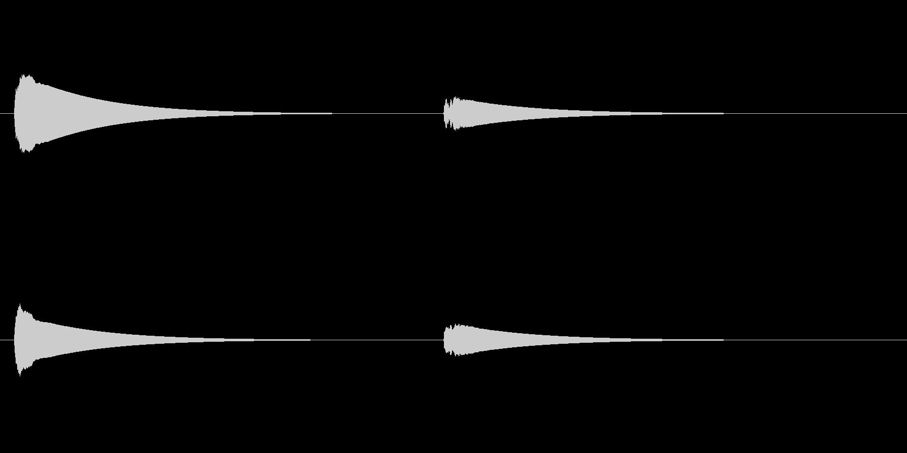 【ドアベル ピンポン02-6】の未再生の波形