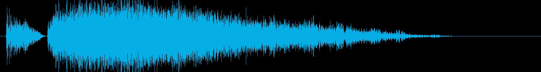 パンチやキック(大打撃、カウンター等)1の再生済みの波形