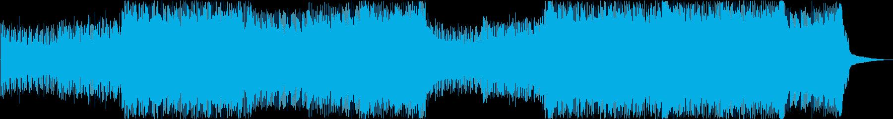 Trance  高揚感 EDM 疾走感の再生済みの波形