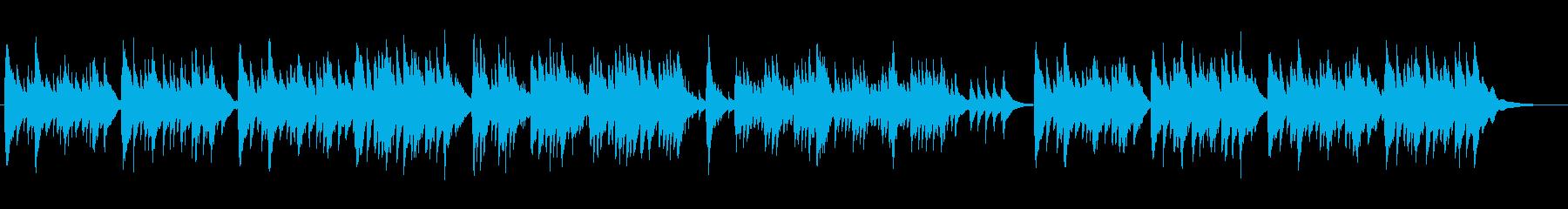 アルバム写真と共に聴きたいオルゴール曲の再生済みの波形