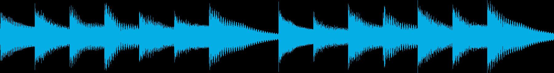 シンプルベル お知らせ ハテナ ? 03の再生済みの波形