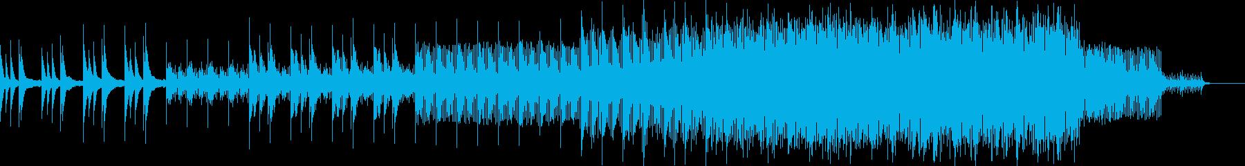 神秘的な雰囲気のエレクトロニカの再生済みの波形