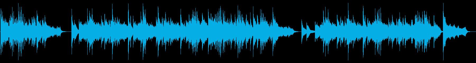 ピアノを主体にした美しいポップスの再生済みの波形