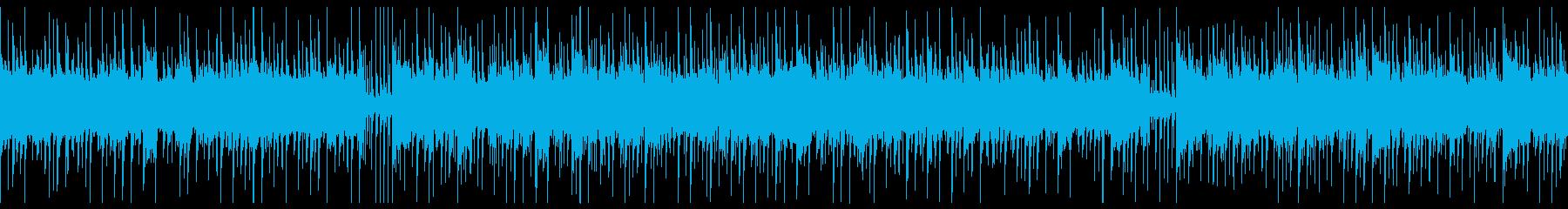 軽薄な感じのBGM,ループ仕様 の再生済みの波形