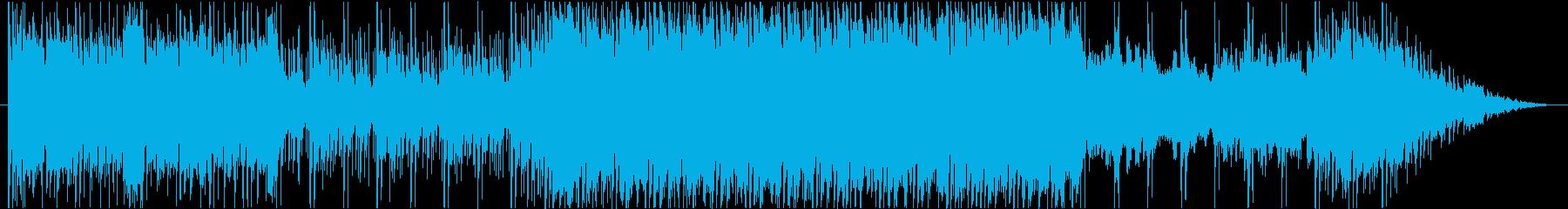 ゲームの戦闘曲のような楽曲です。の再生済みの波形