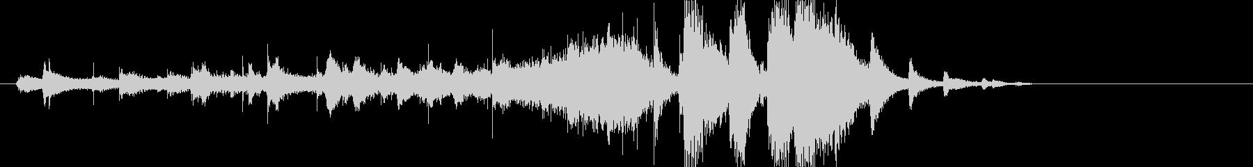 音楽ロゴ;ピラミッド構造を形成する...の未再生の波形