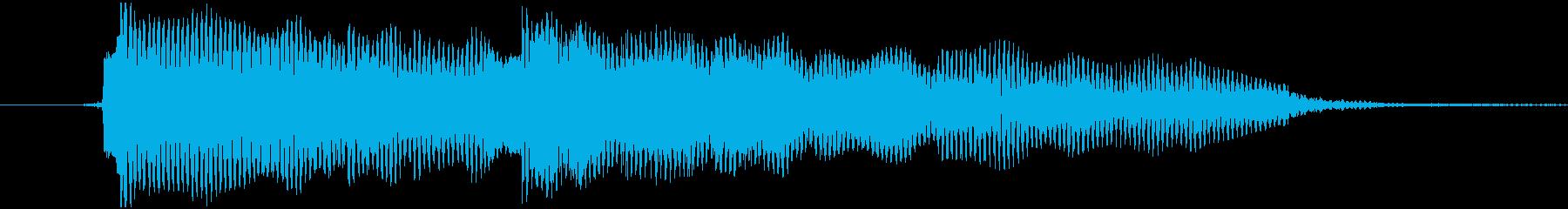 ゆったりしたテンポのサマーBGMの再生済みの波形
